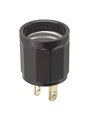 *NEW* Leviton 61 Polarized Outlet-to-Lampholder Adapter,660 Watt, 125V Brown