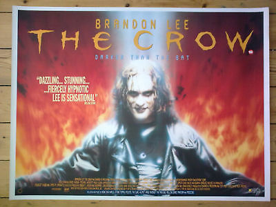 THE CROW - Original UK Quad Cinema Poster - MINT - BRANDON LEE / Bruce Lee