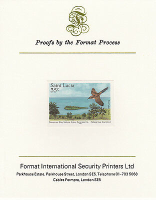 St Lucia 4254 - 1985 NATURE RESERVES 35c imperf Format International PROOF  CARD