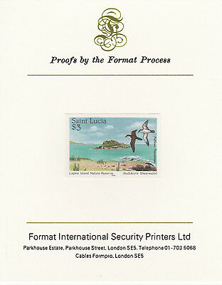 St Lucia 4256 - 1985 NATURE RESERVES $3 imperf Format International PROOF  CARD