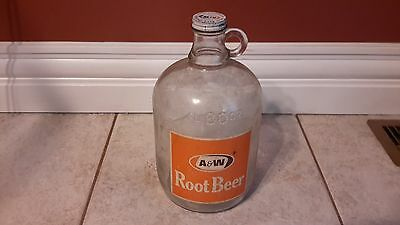 Vintage 80 FL OZ A&W Root Beer Bottle Made in Canada