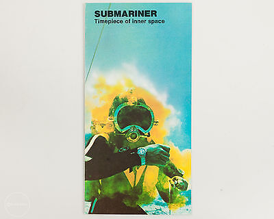 RARE ROLEX RED SUBMARINER Print Ad from the 1970's! Timepiece of Inner Space!