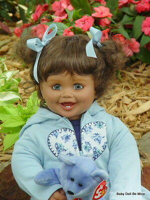 New My Twinn Toddler Doll * Tayla * Blue Eyes * Brunette Hair * FREE OUTFIT