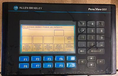 Allen Bradley PanelView 550 2711-K5A5 Series B Working Tested