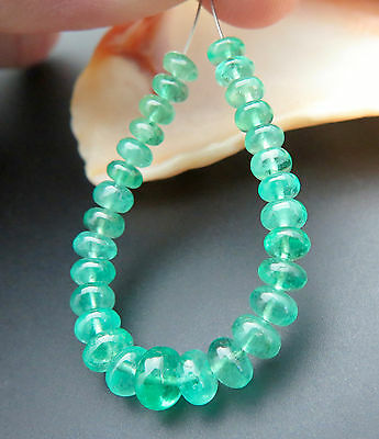 Stunning Material Aaaa Zambian Rich Vibrant Green Emerald Beads - Bright Color