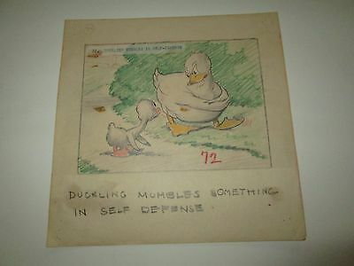 Disney Ugly Duckling  concept storyboard animation cel Drawing 1939