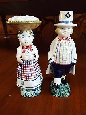 Royal Copenhagen Aluminia Jus Faience Child Welfare Candleholders Figurines Nr