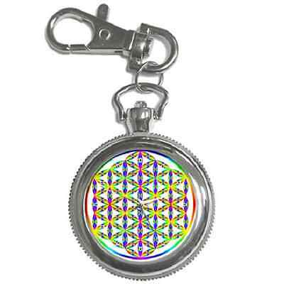Flower Of Life Circle Of Life Yoga Round Keychain Watch **great Gift Idea**