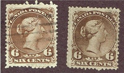 Canada Large Queen #27 X2 F-Vf  (Aym20