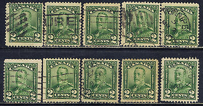 Canada #150(12) 1928 2 cent green King George V Scroll 10 Used