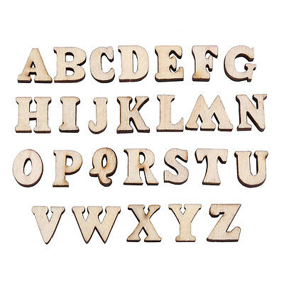 200pcs 15mm Wooden Alphabet Letters Numbers Kids Early Education Toys DIY Decors