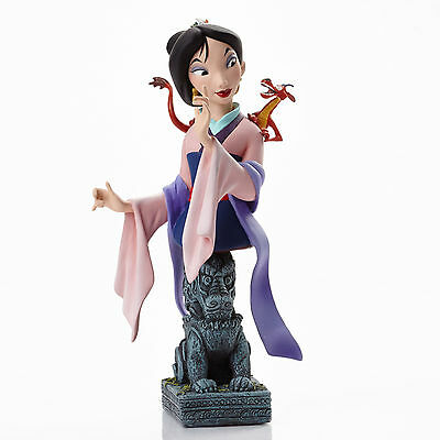 Disney Showcase Grand Jester Studios Mulan & Mushu Dragon Bust Figurine