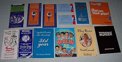 Assorted Theatre Programmes Guide. Hay Fever Run For Your Wife Little Lies UK