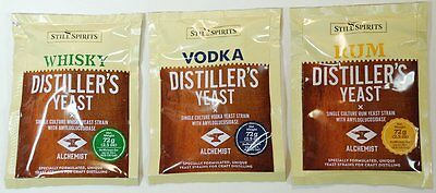 One package of Still Spirits Distiller's Yeast for Whisky, Rum or Vodka