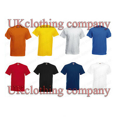 Fruit Of The Loom Uni Coton Épais T-Shirt - Uni Haut Manches Courtes DU S au 3XL