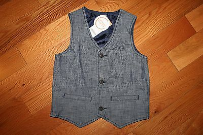NWT Gymboree Blue Safari Boy Size 4T-5T Blue Chambray Vest