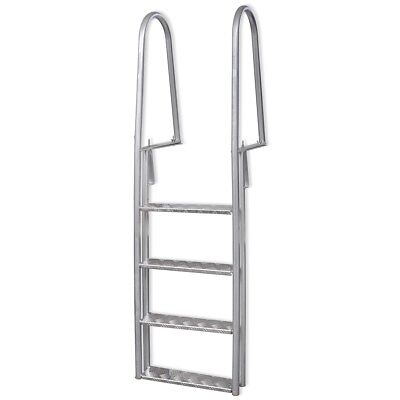 Aluminium Frame Dock Edge Welded Ladder with Non-Slip Steps Swimming Pool
