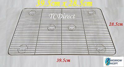 Stainless Steel 39.5 x 28.5cm Cooling Tray for Bakers Cake Maker