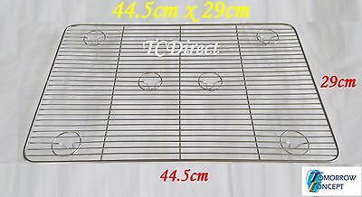 Stainless Steel 44.5 x 29cm Cooling Tray for Bakers Cake Maker