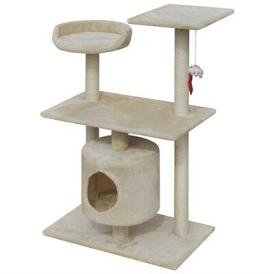Cat Tree Scratching Post Scratcher Pole 1 House Pet Gym Condo Toy 94.5cm Beige