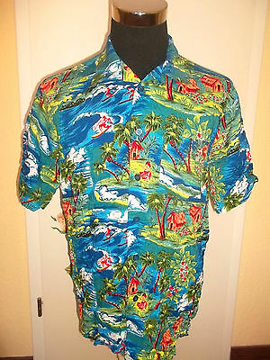 vintage 80`s LIMIT HAWAII HEMD shirt surf oldschool surfer retro party L
