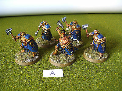 5 Stormcast Eternals, painted and based.  Warhammer Age of Sigmar (A)