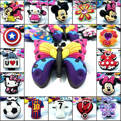 1PCS Hot Lovely Cartoon PVC Shoe Charms Shoe Accessories Decoration Gift