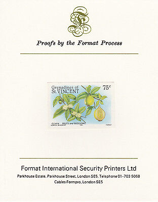 St Vincent Grens 4270 - 1985 FRUITS mperf on Format International PROOF  CARD