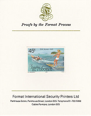 St Vincent Grens 4274 - 1985 TOURISM  mperf on Format International PROOF  CARD