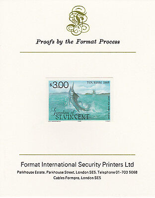 St Vincent Grens 4276 - 1985 TOURISM  mperf on Format International PROOF  CARD