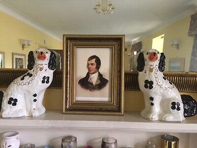 Pair Large Antique Staffordshire Wally Dogs