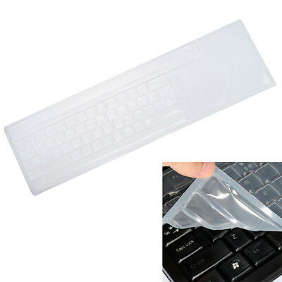 Clear Keyboard Skin Protector Silicone Cover for Universal PC Computer Desktop