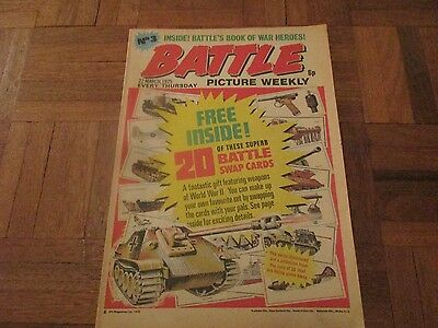 battle picture weekly no 3... 22nd march 1975