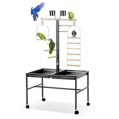 iKayaa 53*53*139cm Parrot Bird Play Top Stand Finch Cage Aviary Pet Supply W0V4