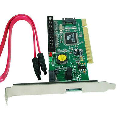3 Ports PCI Sata Card Serial ATA Adapter for HDD Xbox 360 + IDE Port VT6421A