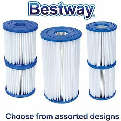 Bestway Swimming Pool Filter Pump Replacement FILTER CARTRIDGES - Assorted Sizes