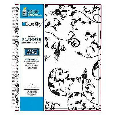 Blue Sky 2017-2018 Academic Year Weekly & Monthly Planner, Twin-Wire Bound, 8.5""
