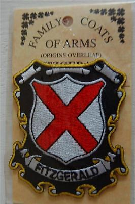FITZGERALD Embroidered PATCH Coat of Arms Family Crest - Sew or Iron On
