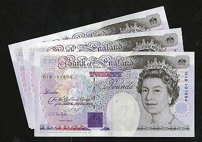 Kentfield Faraday £20 Banknote ( 1991 - 93 ) NEF Condition B371 Crown Top Right
