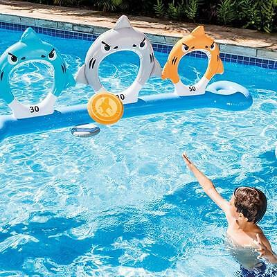 Intex Feed The Shark Inflatable Swimming Pool Frisbee Target Garden Game