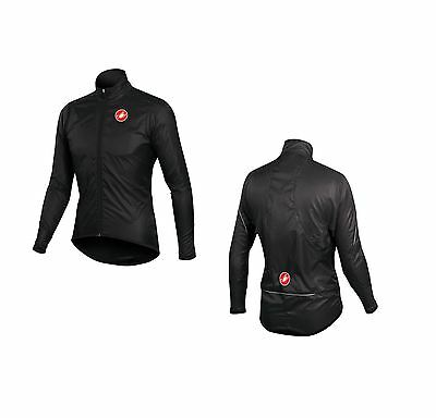 Castelli Squadra Long - Jacket Large 4510504 water resistant and windproof black