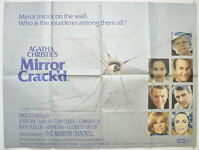 AGATHA CHRISTIE'S - THE MIRROR CRACK'D (1980) Quad Film Poster - Angela Lansbury