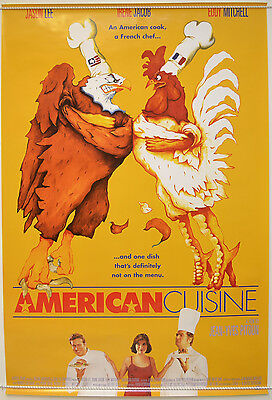 AMERICAN CUISINE (1998) Original One Sheet Movie Poster - Jason Lee, Irene Jacob