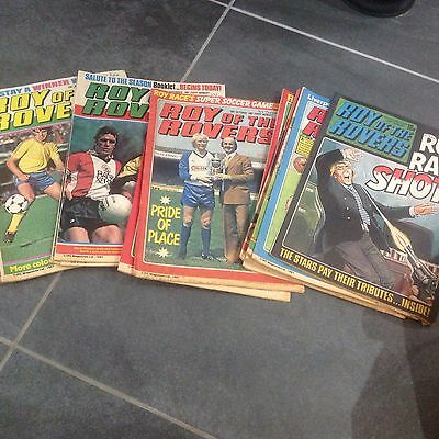 SHOOT COMICS FROM 1981 X 15,LIKE SCOOP job lot, ROY OF THE ROVERS