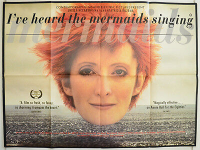 I'VE HEARD THE MERMAIDS SINGING (1987) Original Quad Film Poster Sheila McCarthy