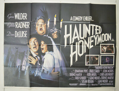 HAUNTED HONEYMOON (1986) Original Quad Movie Poster - Gene Wilder, Gilda Radner