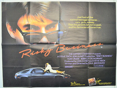 RISKY BUSINESS (1983) Original Quad Movie Poster - Tom Cruise, Rebecca De Mornay