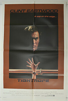 TIGHTROPE (1984) Original 1-Sheet Movie Poster - Clint Eastwood,Genevieve Bujold