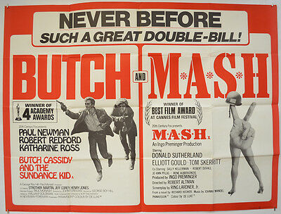 BUTCH CASSIDY AND THE SUNDANCE KID / M.A.S.H. (1970) Original Quad Movie Poster