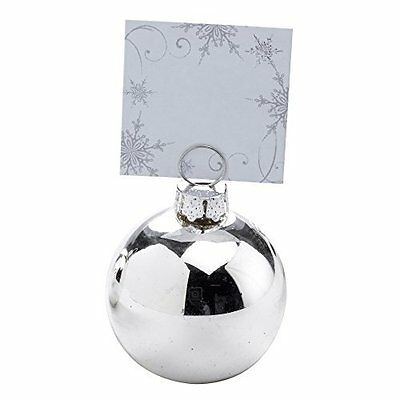 Neviti Bauble Place Card Holder Silver 6-Piece